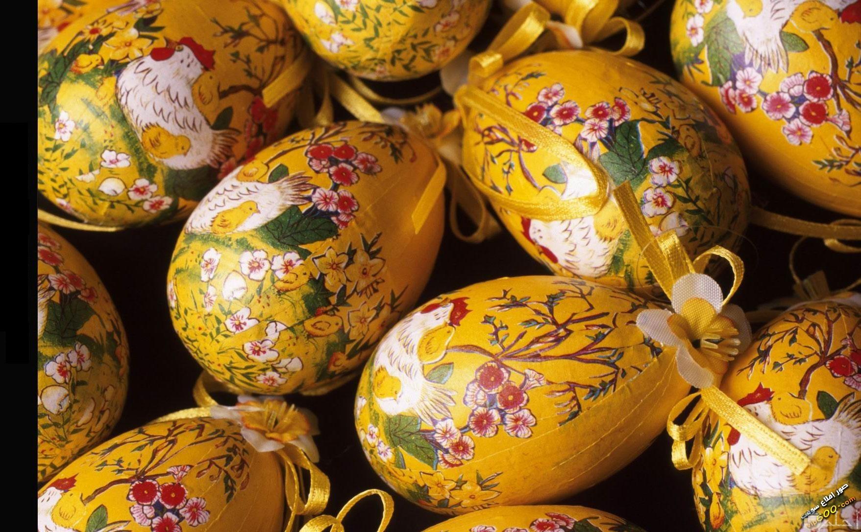 صورة بيض ملون لشم النسيم.