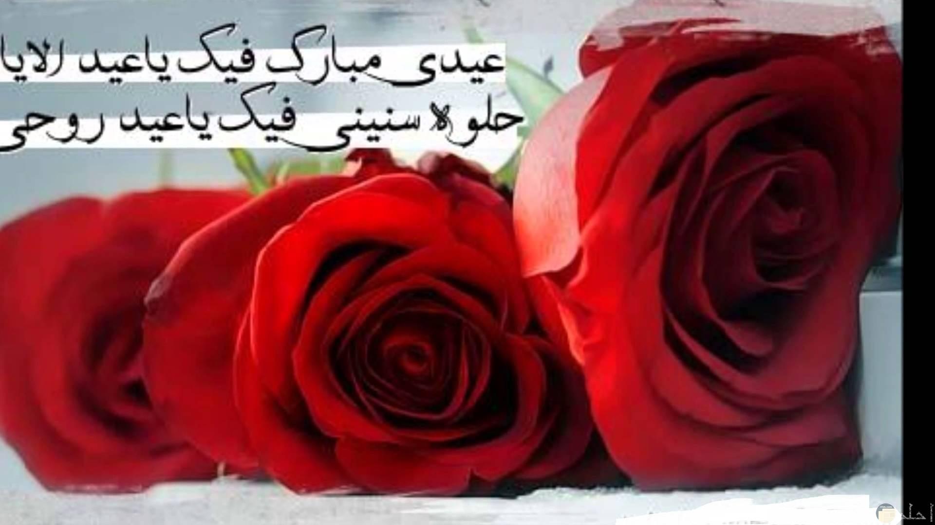 صورة لعيد الزواج و الورود.