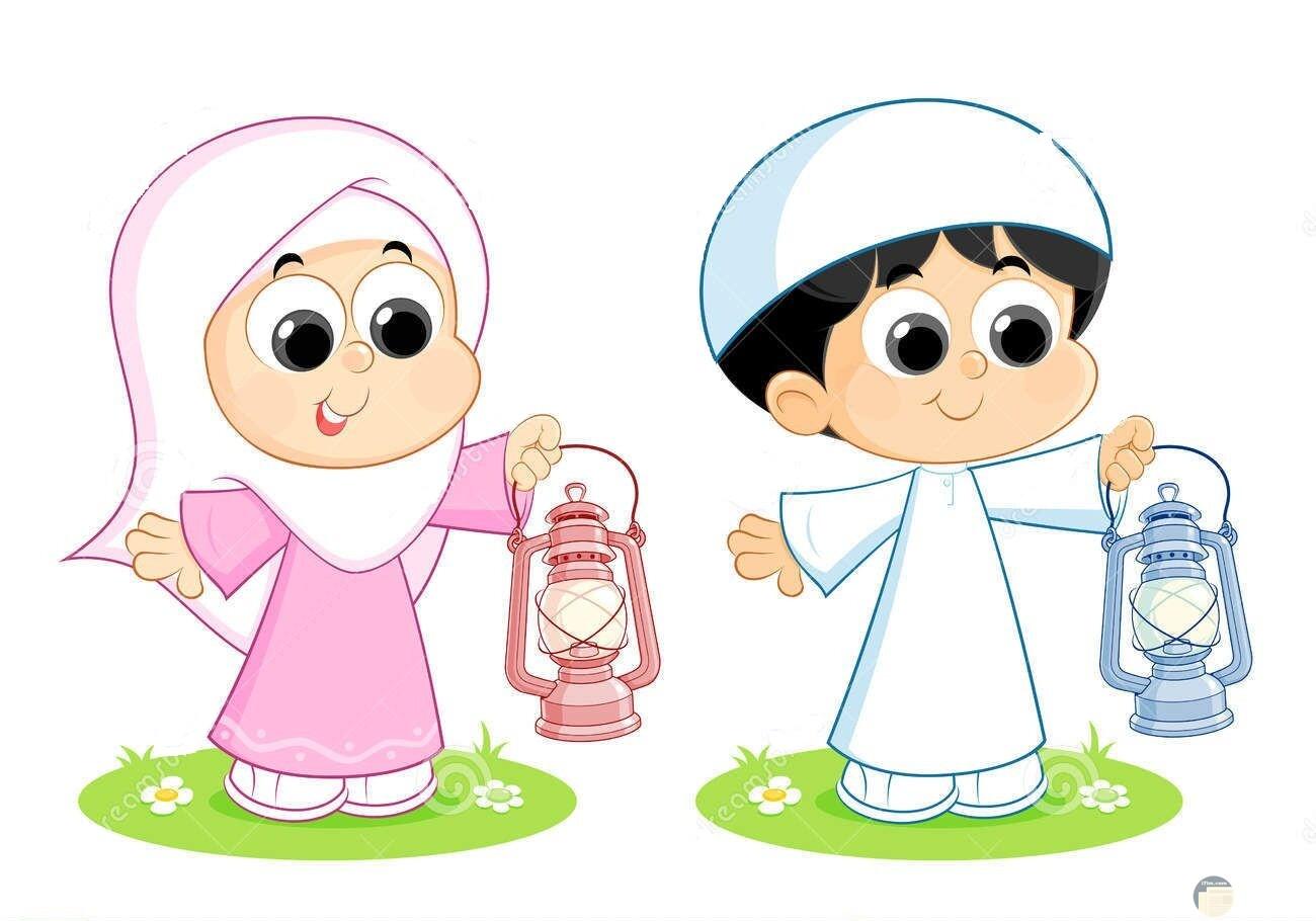 رسمة للأطفال في رمضان.