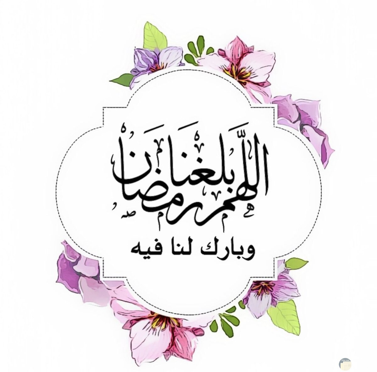 اللهم بلغنا رمضان.