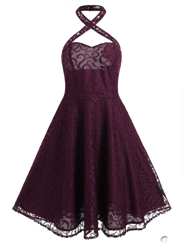 فستان برباط على الرقبه جميل