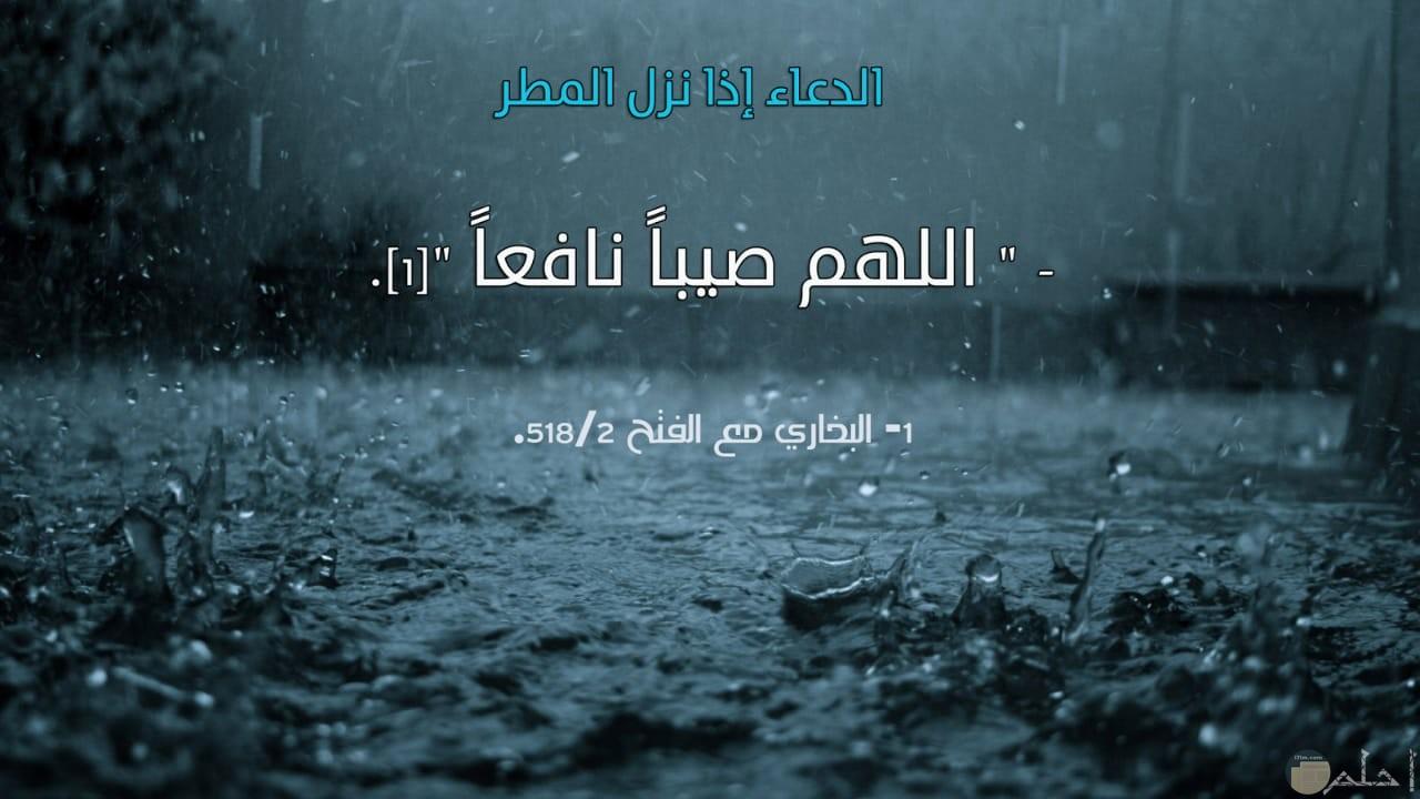 دعاء المطر و اللهم صيباً نافعاً.