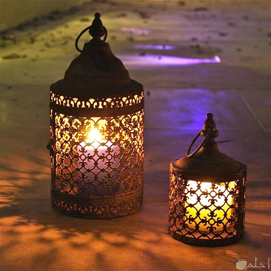 فوانيس رمضانية مضيئة جميلة جدا
