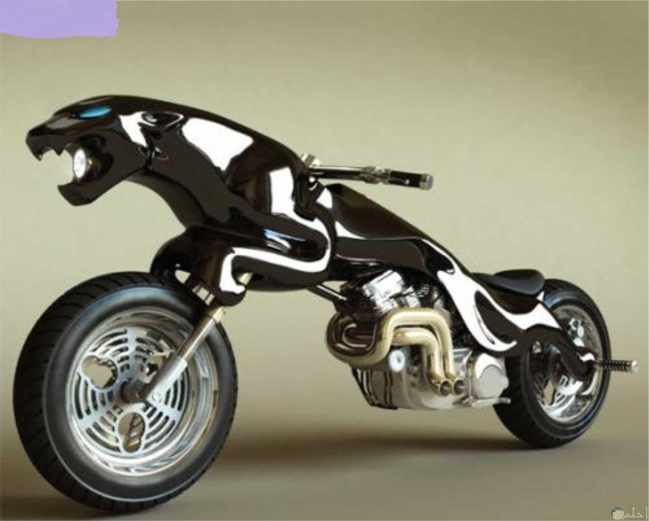 صورة دراجة نارية على شكل نمر.