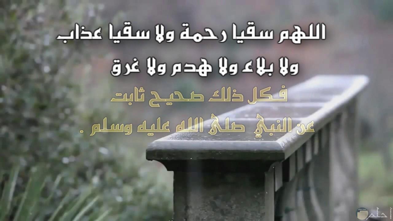 صورة من أدعية المطر و اللطف منها.
