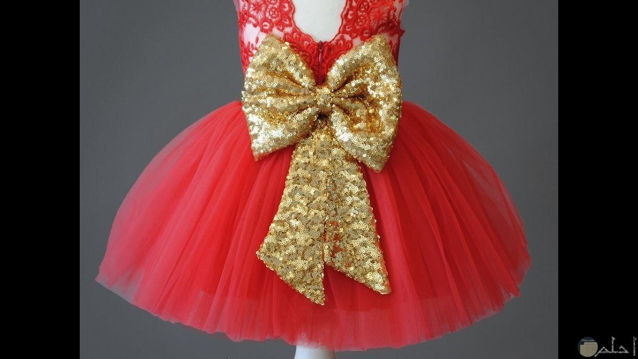 من اروع الفساتين الحمراء للاطفال