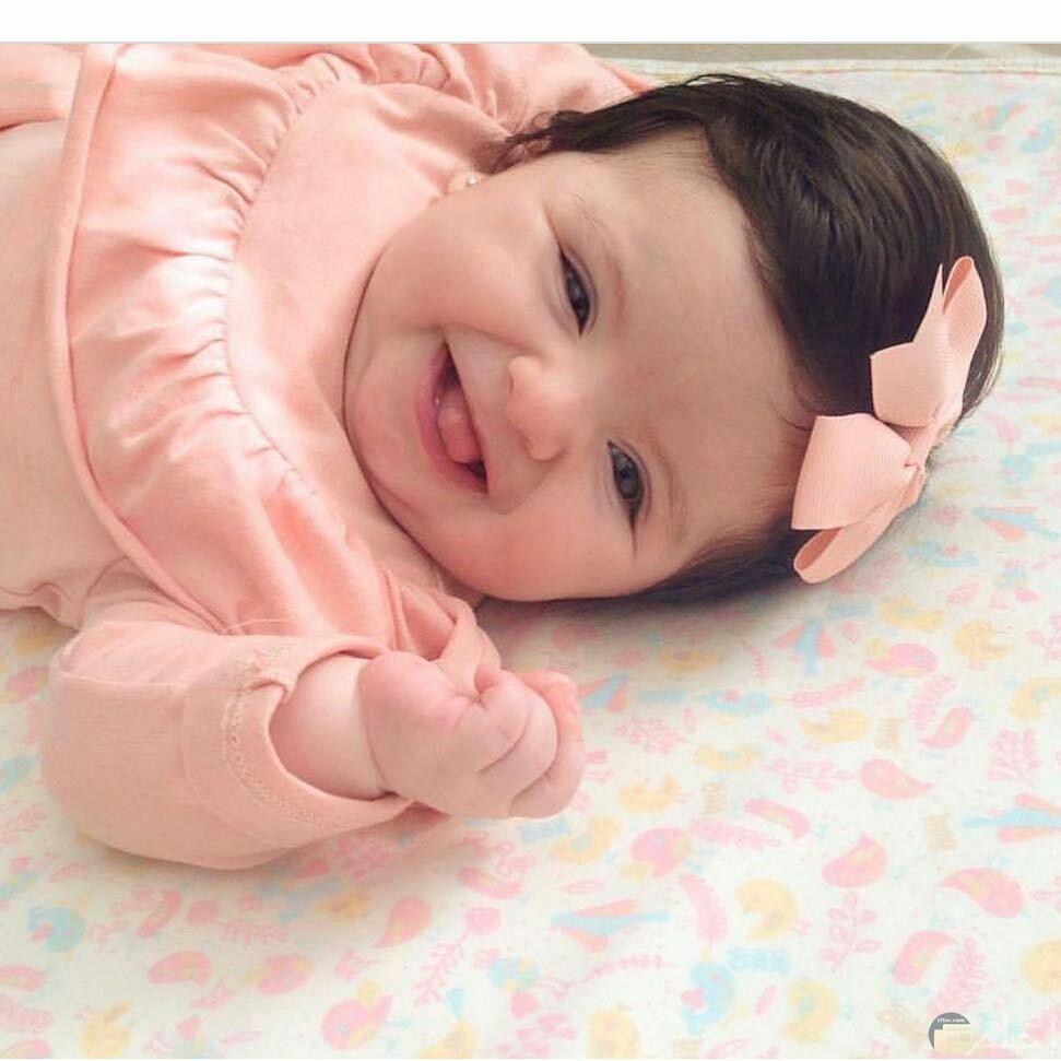 الضحكة الحلوة من طفلة تجنن.