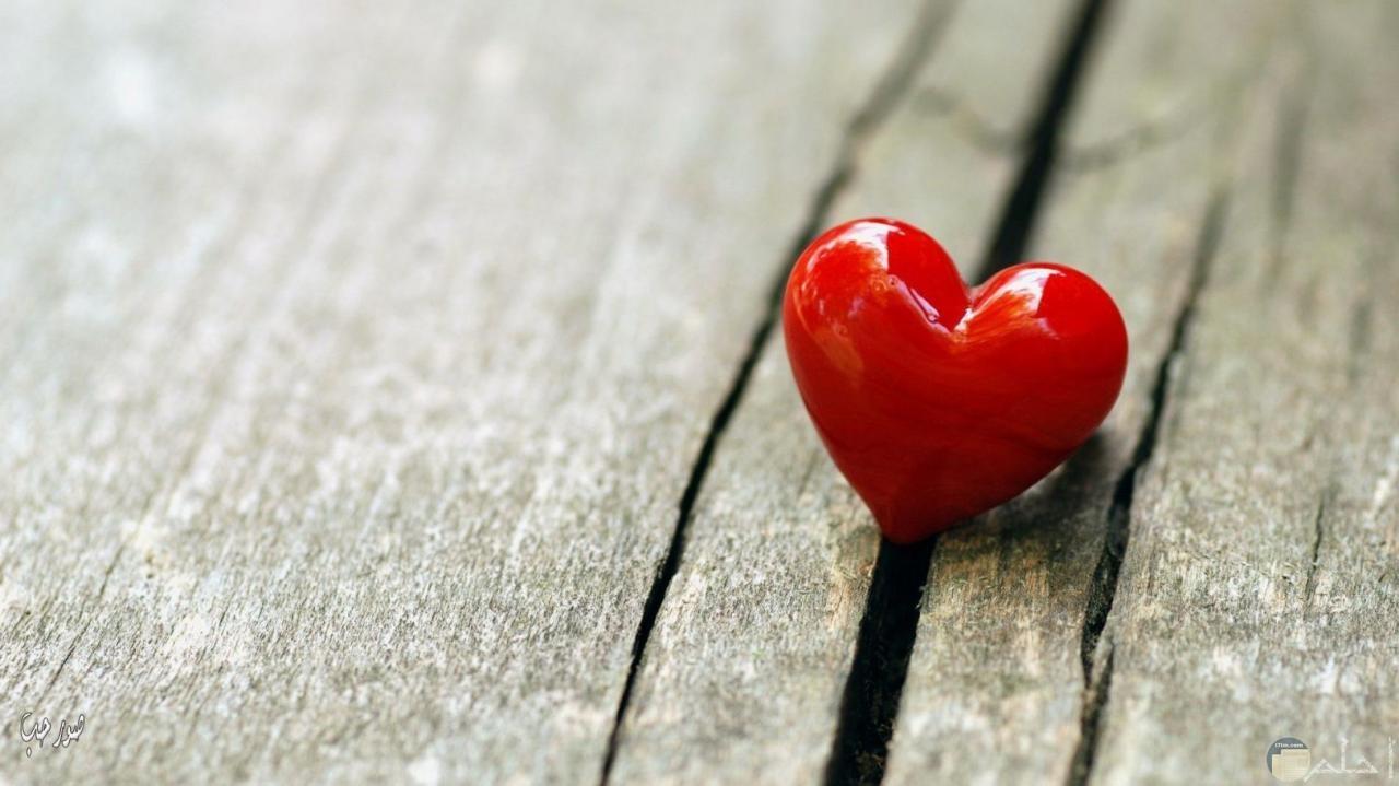 قلب احمر على صورة جميلة للواتس