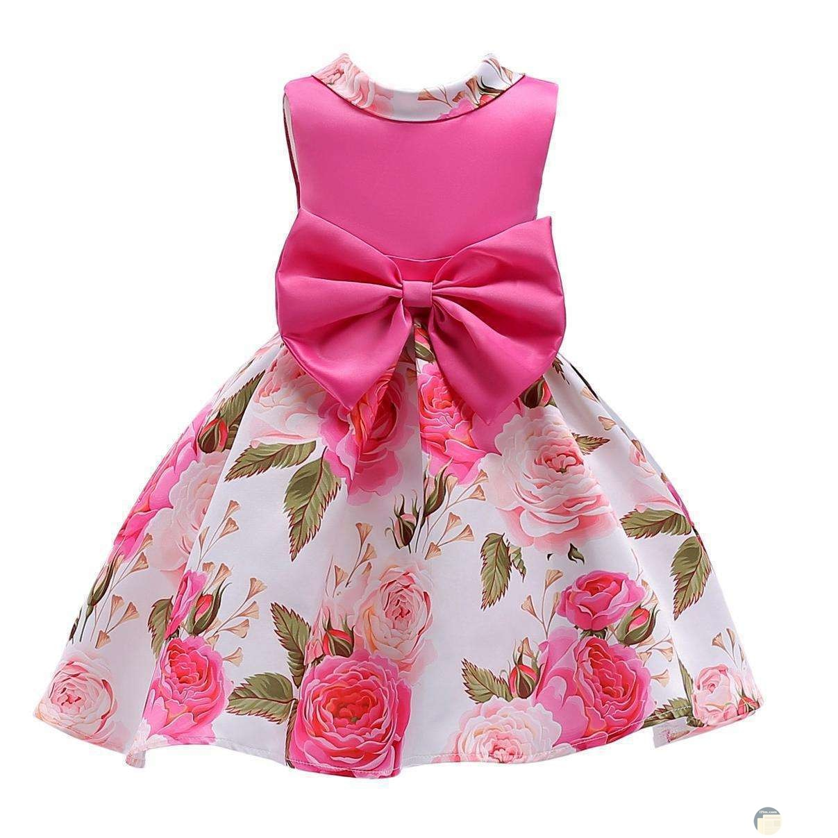 فستان بنات بفيونكة شيك اوي