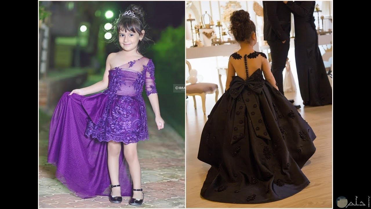 فستان اسود واخر ازرق رائع