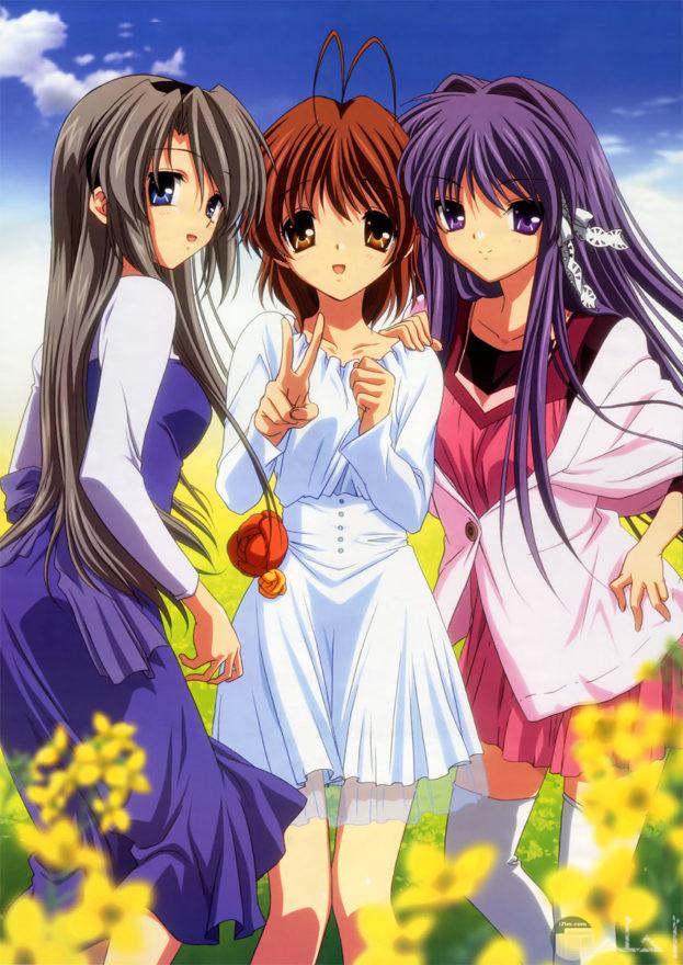 صورة انمي مجموعة من البنات