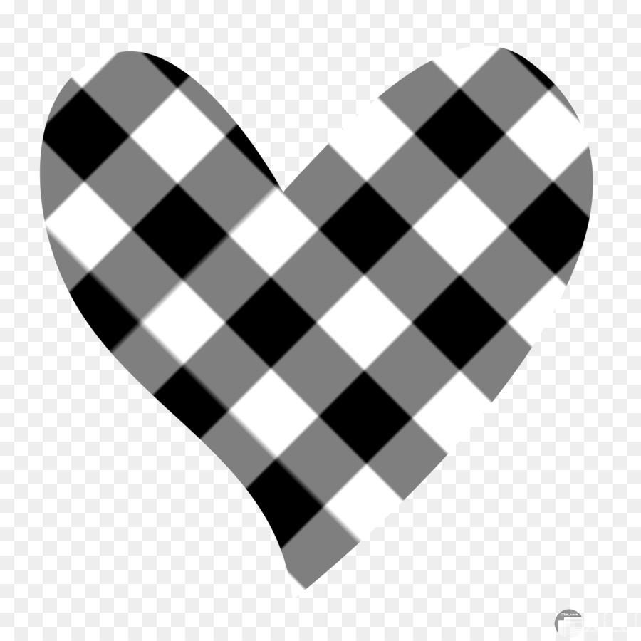 قلب ابيض واسود