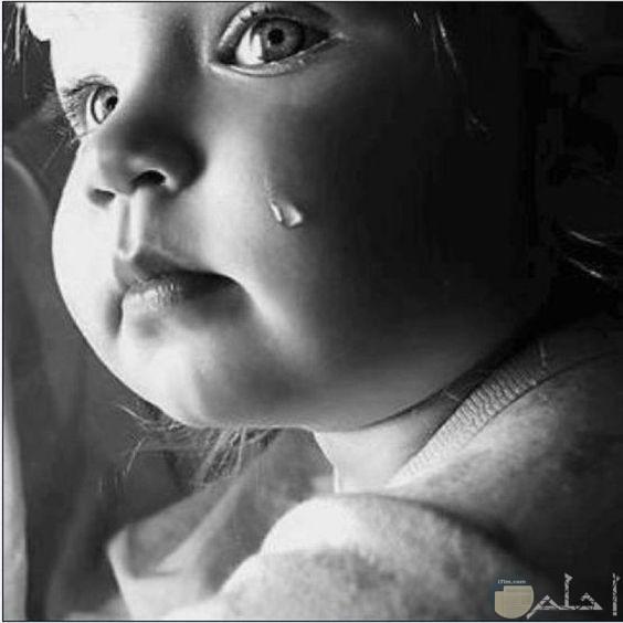 صورة رماديه لبنت تبكي
