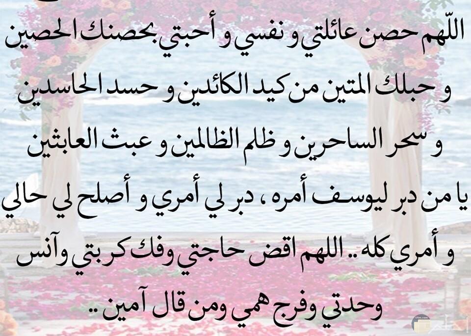 اللهم حصن عائلتي ونفسي وأحبتي بحصنك الحصين