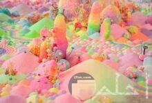 صورة صخورة بالالوان الزاهية