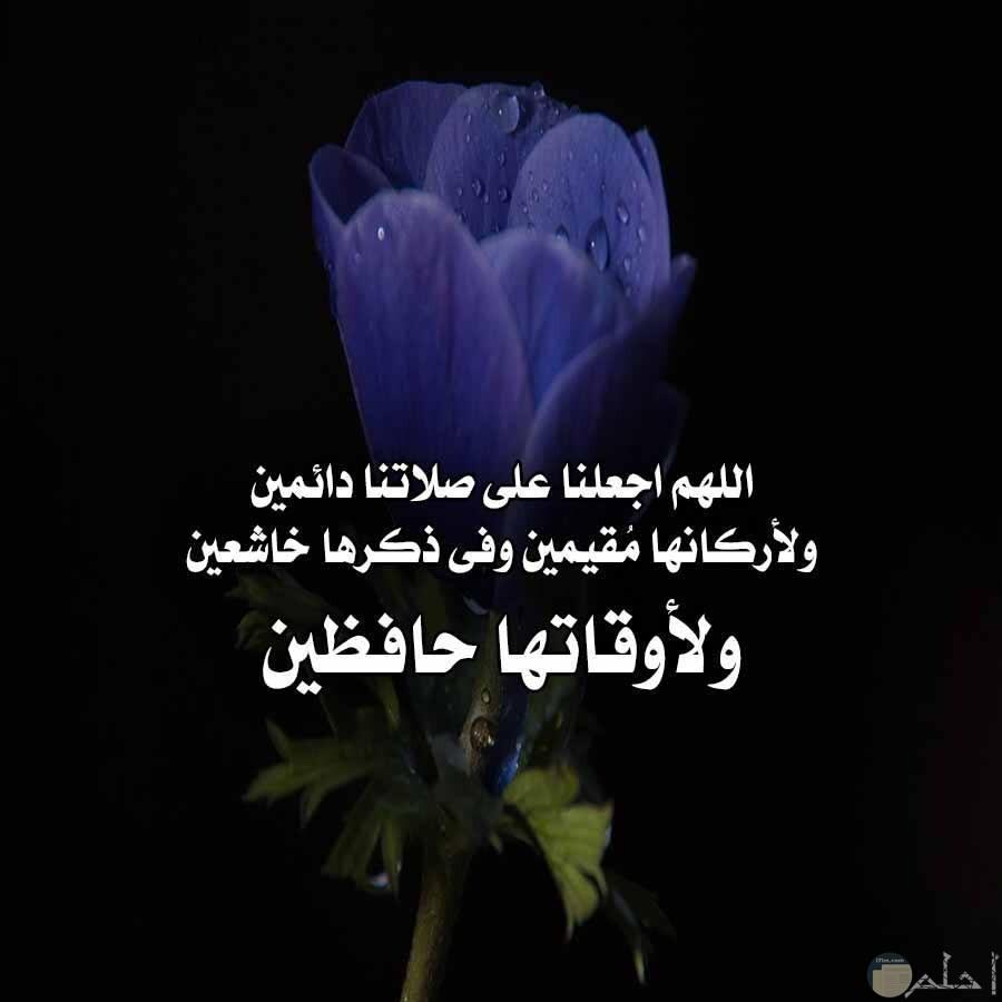 اللهم اجعلنا على صلاتنا دائمين ولاركانها مقمين وفي ذكرها خاشعين